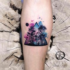 • D E E P • F O R E S T •  #forest #nature #naturelovers #moon #night #animals #watercolor #watercolortattoo #abstract #abstracttattoo #koraykaragozler #koray_karagozler #custom #design