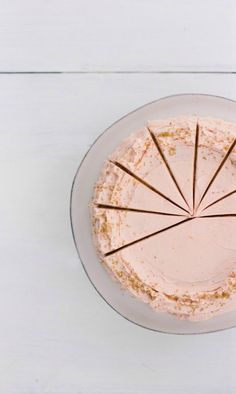 buttermilk cake with blood orange frosting / vanilla bean blog