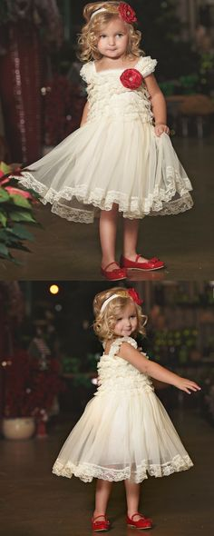 Heartthrob Petti Lace Dress in Ivory Pretty Flower Girl Dresses, Flower Girl Dresses Country, Flower Girl Tutu, Lace Flower Girls, Little Girl Dresses, Beautiful Dresses, Tulle Dress, Lace Dress, Lace Weddings