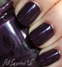 China Glaze Charmed Im Sure nail polish swatch 500x545 China Glaze Autumn Nights Fall 2013 Gossip Over Gimlets Set Swatches and Review