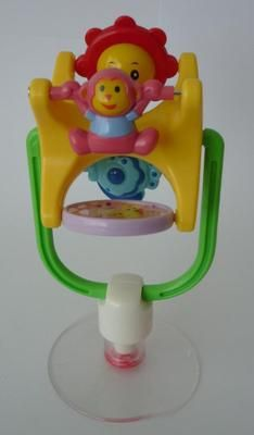 BABY TODDLER HIGH CHAIR SUCTION BASE SPINNING ACTIVITY RATTLE TOY FROM BIRTH