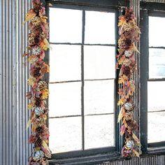 Harvest Decorations, Seasonal Decor, Holiday Decor, Fall Garland, Autumn Wreaths, Farmhouse Style Decorating, Farmhouse Decor, Fall Door, Antique Farmhouse