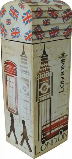 Caja de vino Decoupage Vintage, Decoupage Box, Arte Country, Pintura Country, Vintage Country, Stencil Art, Stencils, Eiffel Tower Craft, Diy Shows