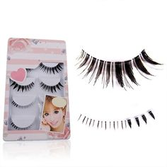 b8faa8da443 5 Pairs Professional Soft Long Thick False Eyelashes Upper Lower Eye Lash  Extension Set False Eyelashes
