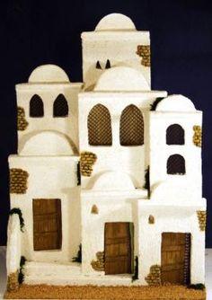 Housing Composition No. Class Decoration, Slab Pottery, Holy Night, Miniature Houses, Mixed Media Canvas, Fairy Houses, Diorama, Hanukkah, Cribs