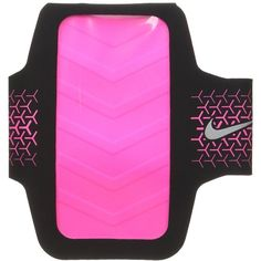 Nike Challenger Arm Band (Black/Hyper Pink/Silver) Athletic Sports... ($35) ❤ liked on Polyvore featuring accessories, tech accessories, nike, sport earbuds, pink earbuds and sports earbuds