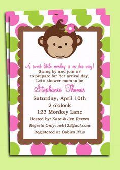 147 best girl birthday invitations ideas images on pinterest girl mod monkey girl invitation printable mod monkey birthday or baby shower invite filmwisefo