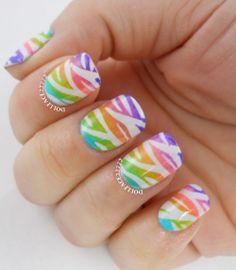 Rainbow zebra gradient by Dollface22772