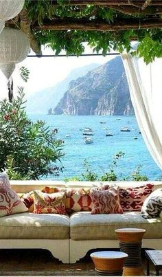 Villa TreVille, Italy   It looks like it's carved into the side of a cliff hovering above the picture-perfect waters of Positano.
