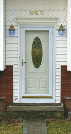 Storm Door Modern Conversations Inc Be All In No Back Doors. Etched Glass Style Fanlight Transom House Numbers For . House Front Door, Glass Front Door, Front Porch, Exterior Front Doors, Entry Doors, Living Room Ceiling Fan, Front Doors With Windows, Front Door Colors, Cool House Designs