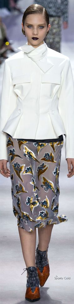 YES! Love this. Keep it white as, well, white with your #ToplessTee women's #undershirt. Christian Dior Fall 2016 RTW