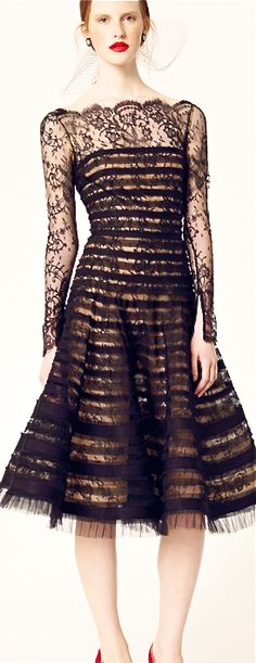 Oscar de la Renta. LBD. Black dress. Vestido negro