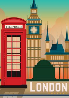 Shop posters, Art prints, Laptop Sleeves, Phone case and more Online! London Poster, London Art, London Food, London Street, Vintage Travel Posters, Vintage Ski, Travel Illustration, Photo Wall Collage, Minimalist Poster
