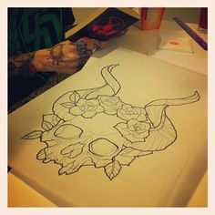 so sick. Sara Fabel tattoo sketch.