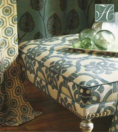 Love the fabric on the ottoman (Duralee)