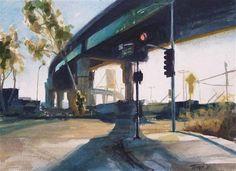 """Vincent Thomas Bridge No. 15"" - Original Fine Art for Sale - © David J. Teter"