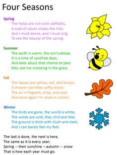 Poem:  Four Seasons