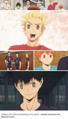 Those eyes are creepy on someone else's face.Suddenly a sports anime turns into a horror anime
