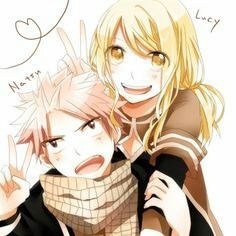 I love the way how natsu is making that annoyed face but still always does what lucy wants :)