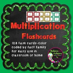 You will LOVE this set of multiplication flashcards! Every teacher is looking for a quick and effective way to  help students learn those facts! I have created 12 sets of cards (one set for each times tables from 1's to 12's) that are color coded by sets!