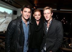 Emily VanCamp hosted a dinner prepared by chef Eric Greenspan for the cast of her show Revenge cast dinner at the Levi's Haus.