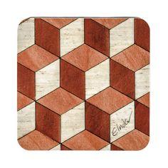 6 Coasters terracotta retro Coaster Housewarming by EInderDesigns