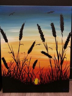 Seagrass Sunset con Linda a Cocktails and Colours in Erie, Pennsylvania con il morale . Seagrass Sunset con Linda a Cocktails and Colours in Erie, Pennsylvania con il morale . Cute Canvas Paintings, Simple Acrylic Paintings, Acrylic Art, Acrylic Painting Canvas, Canvas Art, Diy Canvas, Easy Nature Paintings, 3 Canvas Painting Ideas, Easy Landscape Paintings