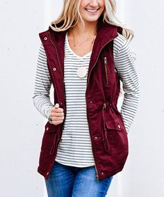 d4448b555a4609 Take a look at this Dark Burgundy Faux Fur-Lined Vest today! My Wish