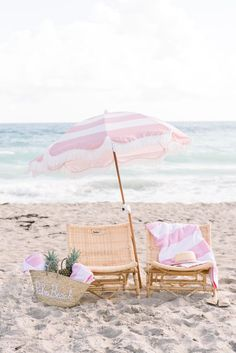"""Travel: """"Sisters Suite"""" by Serena & Lily and Palm Beach Lately at The Colony Hotel Pink Beach, Pink Summer, Beach Bum, Summer Vibes, Summer Beach, Beach Aesthetic, Wall Collage, Aesthetic Pictures, Strand"""
