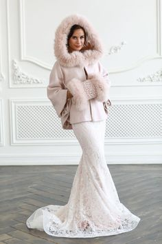 Winter Wedding Coat, Winter Bride, Blush Rose, Blush Pink, Bridal Dresses, Girls Dresses, Bridal Shawl, Wedding Jacket, Pink Gowns