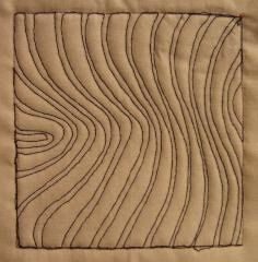 VIDEO    free motion quilting SHADOW WAVES
