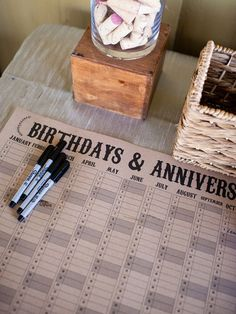 Have guests sign a calendar with their birthdays, anniversaries, etc. http://www.jexshop.com/