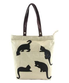 Love this Black Cat Silhouette Tote Bag on #zulily! #zulilyfinds