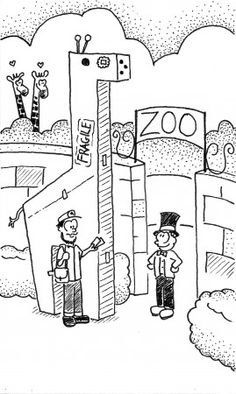 """""""Zoo Delivery"""" - Toph's lunchbox doodle for January 2013 Children, Kids, January, Lunch Box, Doodles, Delivery, Drawings, Crafts, Art"""