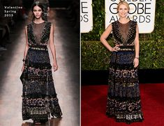 Claire Danes In Valentino – 2015 Golden Globe Awards