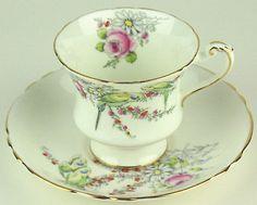 Teacup & Saucer Paragon Princess Margaret Rose Bird Tea Cup a358 vintage