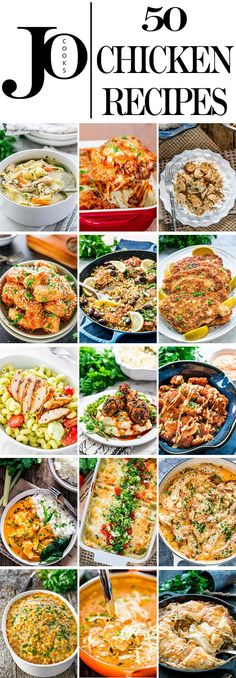 Chicken Recipes are always popular because most of them are easy, quick and versatile. Check out my collection of chicken recipes that's bound to make your life easier. #chickenrecipes #chicken #recipes via @jocooks