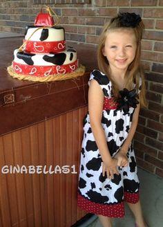 cowgirl dress barnyard farm Jessie Birthday Party by GinaBellas1, $45.50