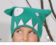 Chapeau rigolo de monstre, Tuque monstre vert, Bonnet, face de monstre,  Cadeau enfant, adulte, automne, hiver, Fait main par Les Funky 9e2cdd4f0f9