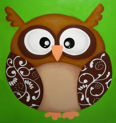 CUTE OWL on Canvas by thePINKdragonDESIGN on Etsy, $50.00