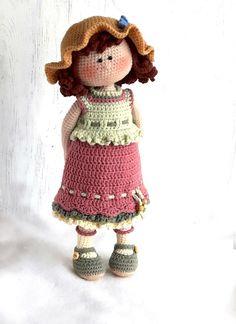 Crochet Stuffed Dolls Amigurumi doll pattern for Crochet toy making Dorothy the Amigurumi Doll Pattern, Crochet Doll Pattern, Crochet Toys Patterns, Stuffed Toys Patterns, Crochet Patterns Amigurumi, Doll Patterns, Bunny Crochet, Crochet Mignon, Cute Crochet
