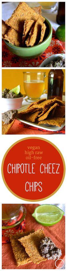 High raw, vegan Chipotle Cheez Chips. Oil-free, gluten-free, nut-free. An Unrefined Vegan.