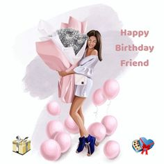 Birthday Ecards for Females Happy Birthday Greetings Friends, Happy Birthday Ecard, Birthday Wishes For Kids, Happy Birthday Wishes Images, Happy Birthday Girls, Happy Birthday Friend, Birthday Images, Birthday Cards, Birthday Fashion