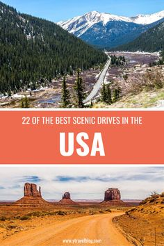Planning a US road trip? Before you map it out get inspired on our blog with 22 of the Best Scenic Drives in the USA! #ScenicDrivesintheUSA #USATravel #USATravelTips #RoadTripIdeas #USRoadTrips #FamilyTravel