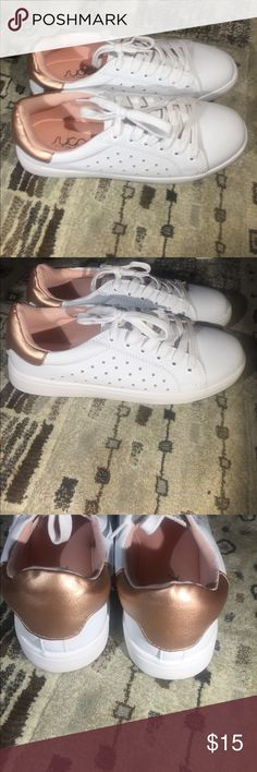 Sugar woman's memory foam sneakers 👟 Nwot absolutely comfortable rose gold color on the back of the heel sugar Shoes Sneakers