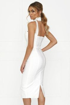 134cedcb9e Womens Abbey Clancy x Lipsy Halterneck Scallop Dress - White in 2019 ...