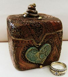Engagement Ring Box by clayscenes on Etsy, $50.00