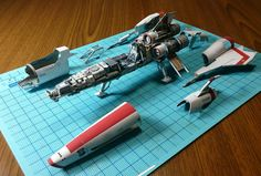 Japanese craftsman creates perfect sci-fi ship replicas using just paper.  OSBSG Viper
