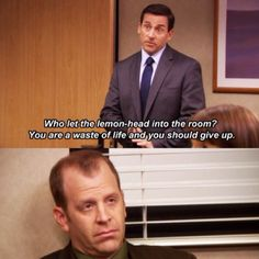 "When Michael was excited to have Toby join a meeting. 25 Michael And Toby Moments On ""The Office"" That Are Painful To Watch Toby The Office, Best Of The Office, Us Office, The Office Show, Office Fan, Memes Gretchen, Office Jokes, Worlds Best Boss, Michael Scott Quotes"