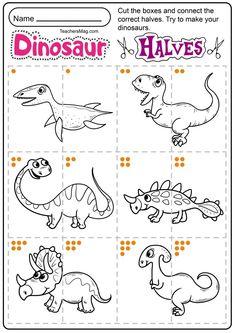 Dinosaur Worksheets, Dinosaur Theme Preschool, Dinosaur Activities, Dinosaur Crafts, Free Preschool, Preschool Printables, Preschool Worksheets, Craft Activities For Kids, Infant Activities